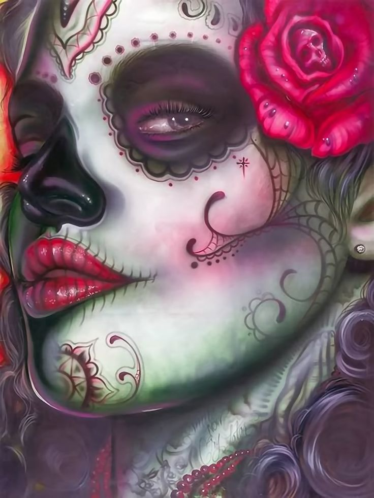 dia de los muertos - day of the dead art.... Inspiration for a piece I'm working on!