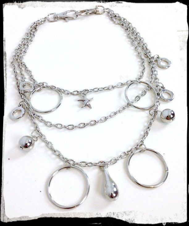 Just launched! 80's Vintage Handbag Jewellery - Necklace - Silver Circles Teardrops & Starfish https://www.etsy.com/listing/291117931/80s-vintage-handbag-jewellery-necklace?utm_campaign=crowdfire&utm_content=crowdfire&utm_medium=social&utm_source=pinterest