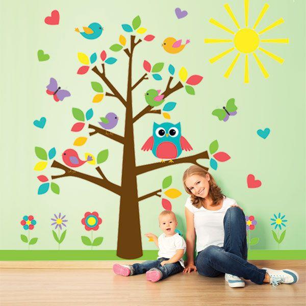 ΠΑΙΔΙΚΑ ΑΥΤΟΚΟΛΛΗΤΑ ΤΟΙΧΟΥ : Δέντρο