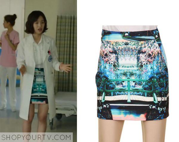 Doctor Stranger: Episode 7 Song Jae Hee's Colorful Print Skirt - ShopYourTv