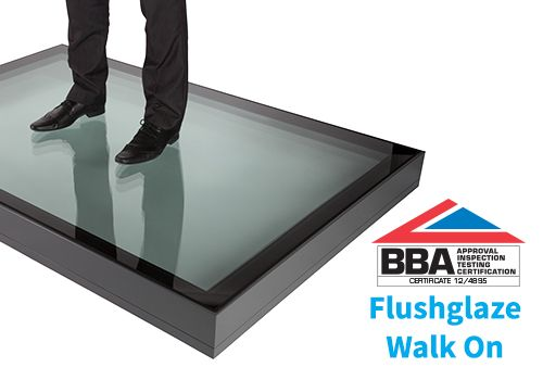 The Flushglaze Walk On is a fixed rooflight designed for flat roof applications to withstand domestic foot traffic. When installed the Flushglaze Walk On rooflight provides a 'frameless' internal view which maximises daylight. Externally the Flushglaze Walk On should be installed at a 1 degree pitch and the glass level with the surrounding decking or…  Read more