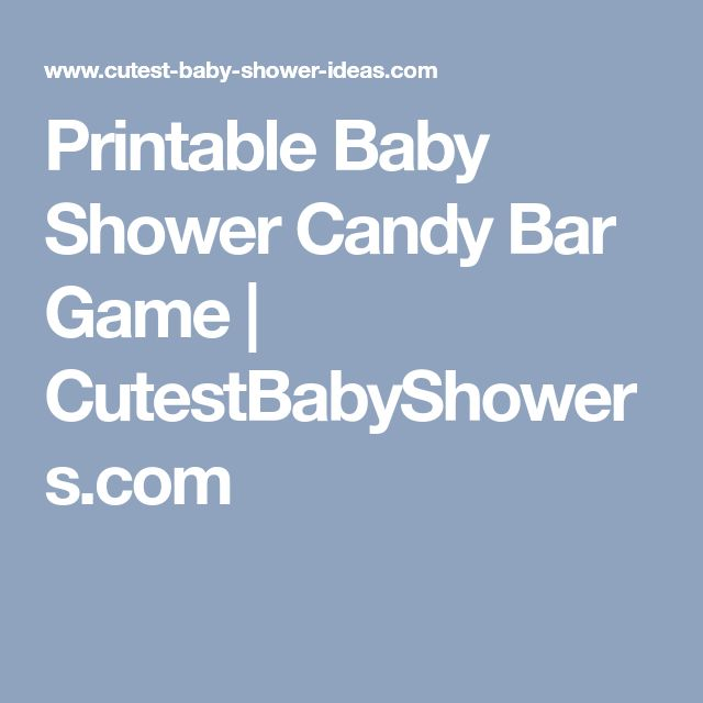 Printable Baby Shower Candy Bar Game   CutestBabyShowers.com