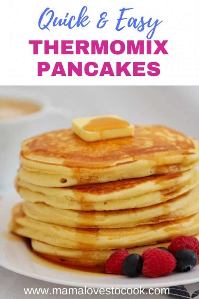 Quick Easy Thermomix Pancakes Recipe Thermomix Pancakes Easy Holiday Recipes Thermomix Recipes