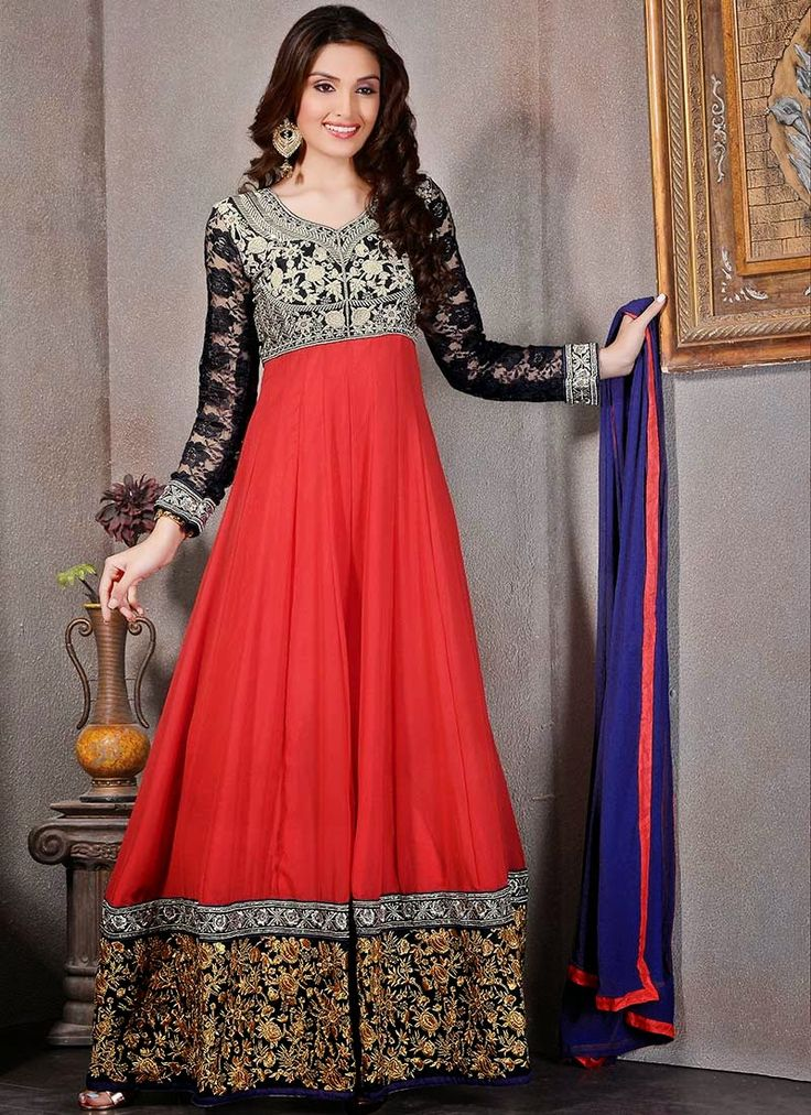 Anarkali Dresses: Long Floor Length Gown Style Anarkali ...