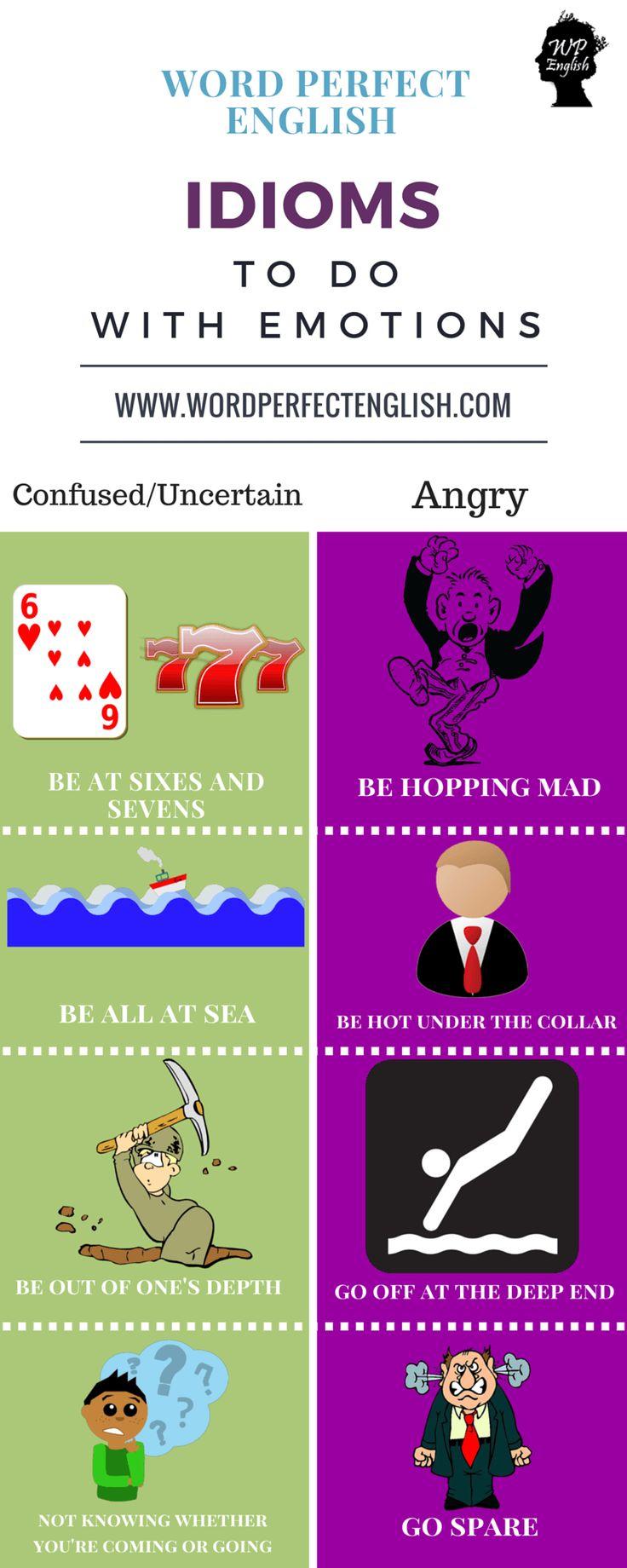 Idioms to do with Emotions 4/4                                                                                                                                                                                 Mais