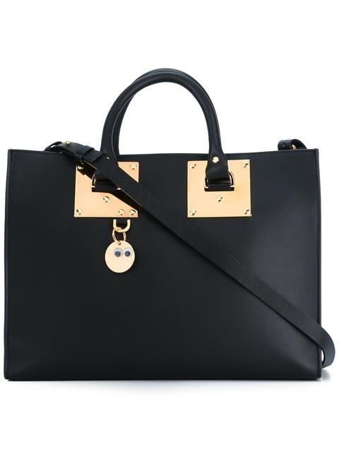 SOPHIE HULME Adjustable Strap Large Tote. #sophiehulme #bags #shoulder bags #hand bags #leather #tote #