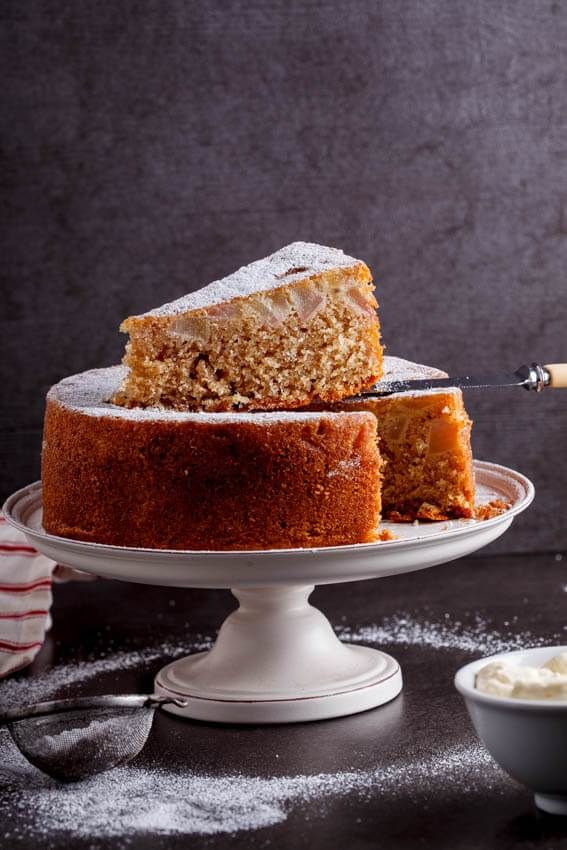 Spiced pear butter cake - simply-delicious-food.com