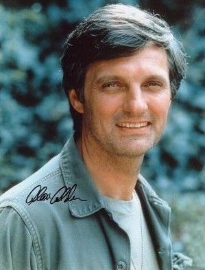 Actor Alan Alda, son of actor Robert Alda