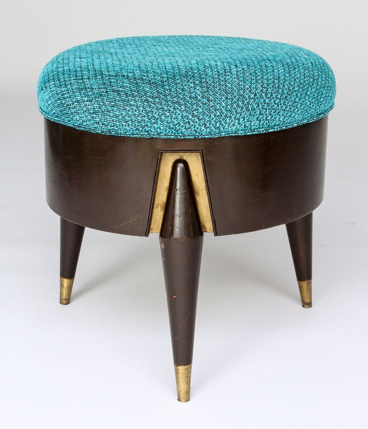 1950s Mexican Modern Eugenio Escudero Upholstered Stools image 4