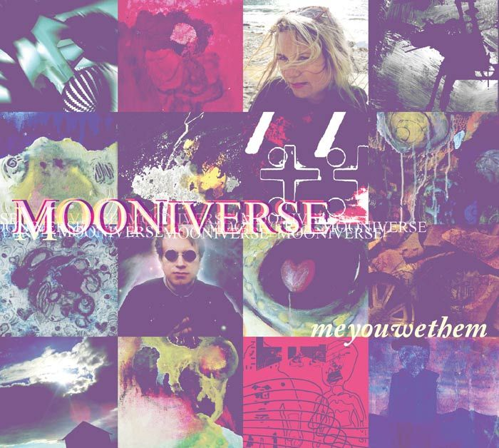 Cover artwork for the album 'Me You We Them' by Mooniverse. http://www.mooniverse.se/