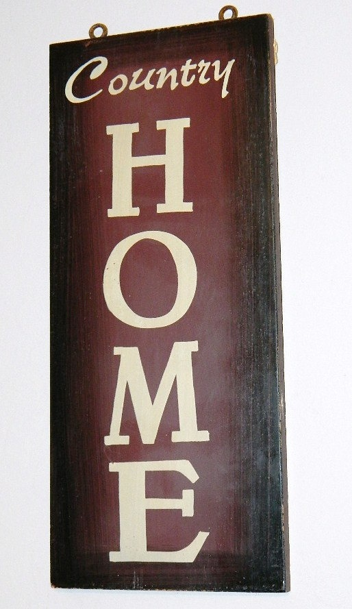 Western Wood Wall Decor : Country home western wood sign wall decor by
