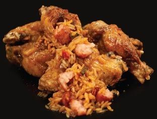 Jambalaya inside a chicken wing.  YUM!