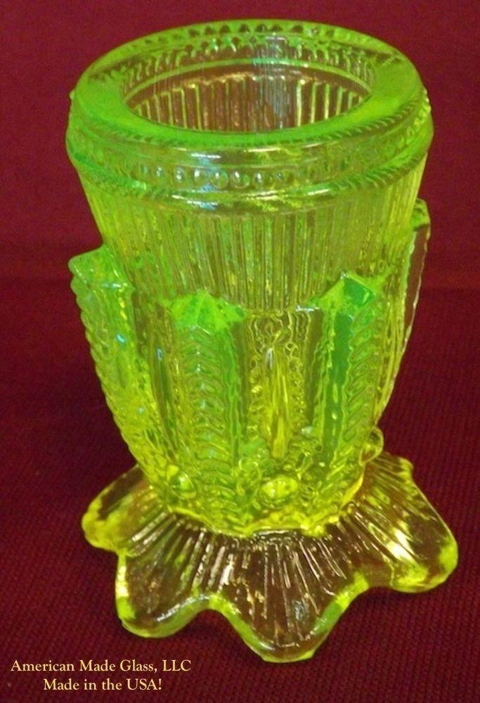 547 Best Uranium Vasoline Glass Images On Pinterest Vaseline Carnival Glass And Depression