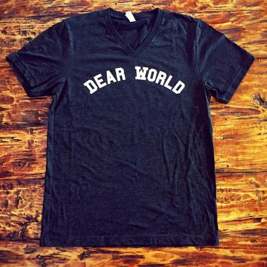 Dear World T-Shirt (V Neck)