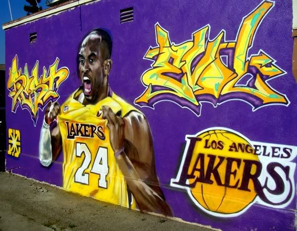 image detail for los angeles lakers graffiti pictures images and photos