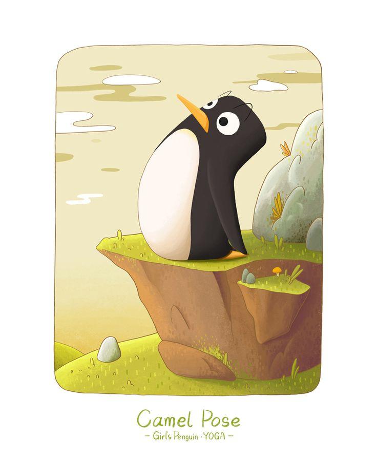 Girl's Penguin • YOGA Camel Pose