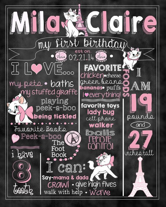 Marie Aristocats Birthday Stat by ccharactercreationss on Etsy