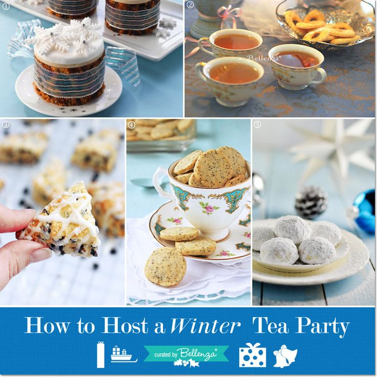 Easy Winter Tea Party Ideas: Relax and Unwind with Your BFFs! With Bundt Cake, Scones, Earl Grey Cookies, & Russian Tea Cookies. Includes Guest Gifts!