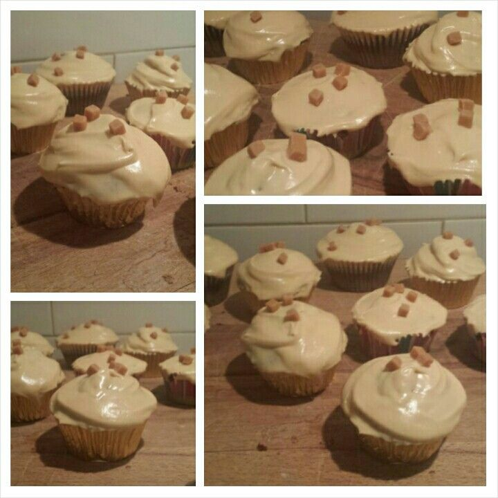 Sticky Toffee Cupcakes, by moi #Baking