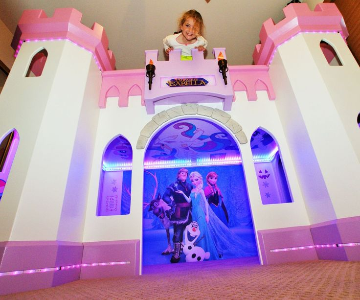 11 best images about kids room princess on pinterest for How to build a castle bed