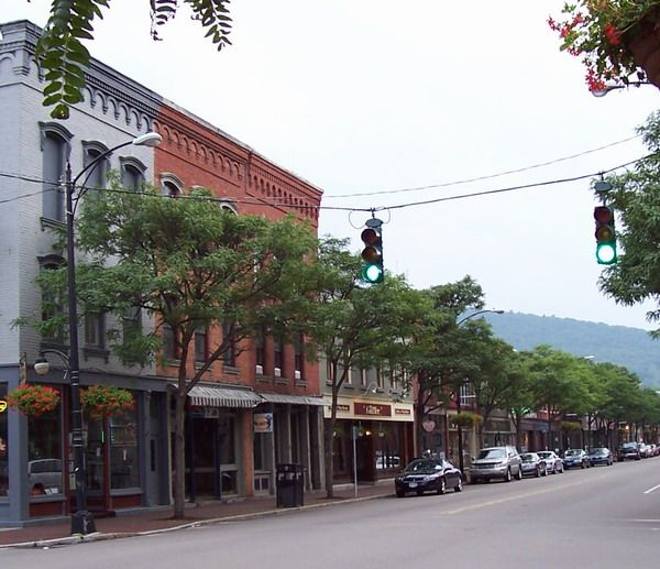 Corning, NY, where I was born. My mother used to take us to the Corning Glass Works in our little red wagon.