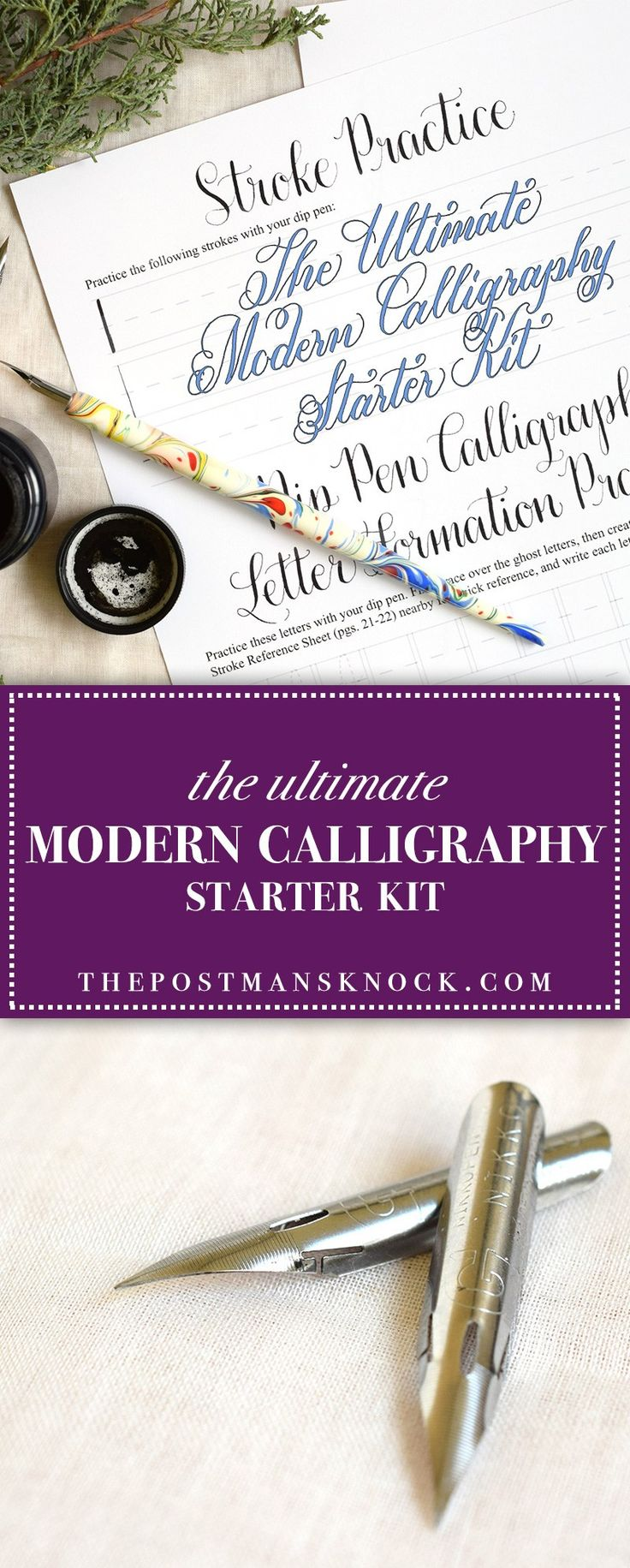 The Ultimate Modern Calligraphy Starter Kit | The Postman's Knock -- Don't buy a pre-made calligraphy kit at a craft store! You can put together your own super high-quality kit for a great price.