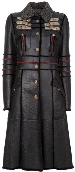 FENDI Leather Coat   for those pending cold Date nights with a little black dress tucked behind  dressmesweetiedarling