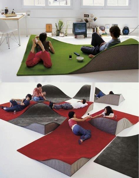Wavy carpet sofa