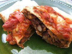 Mexican bean burrito casserole