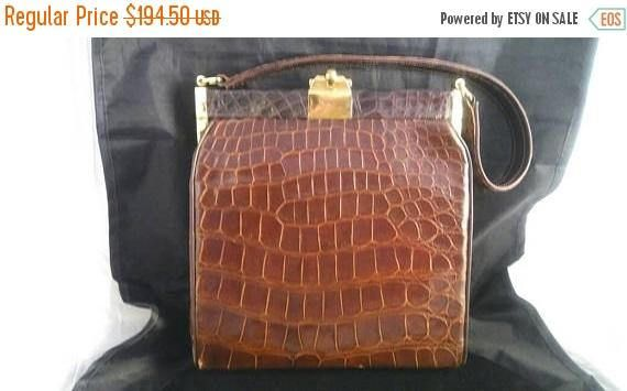 Now On Sale Real Alligator Handbag Mid Century 1960New Listings Weekly - Follow Me 2 Know What's New In My Shop -   #vintagejewelry #vintagejewellry #etsyshop #giftsforher #vintagegifts #etsygifts #vintagefinds #etsyvintage #PlsFollowthx #plsRePinthx #costumejewelry #vintagebling #vintagefashion #vintagejewels #signed #gifts #vintagecostumejewelry #giftsforher #onSALE #buynow #shopnow #vintage #fashion #jewelry #martinimermaid #vintagefashion  #vintagejewelryforsale #vintagejewelryaddict…