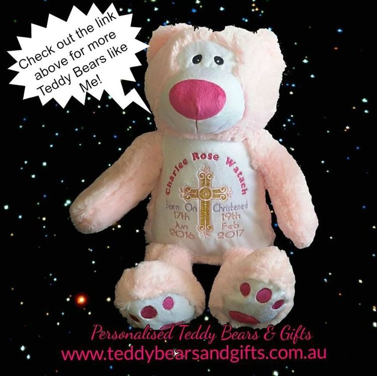 For a sweet little girl on her christening day. http://teddybearsandgifts.com.au/seasonal-special-occassions/christening-baptism/