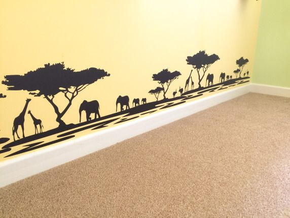 Safari / Lion King themed nursery.  Via - ourfairytaleadventure.com