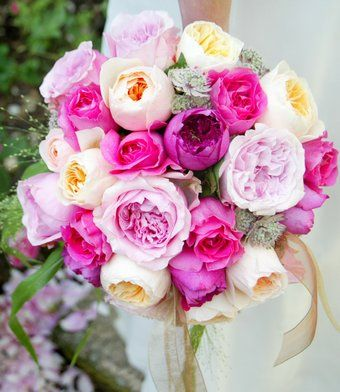 Amazing english cut roses - a soft, romantic look perfect for summer weddings. Fragrant too!