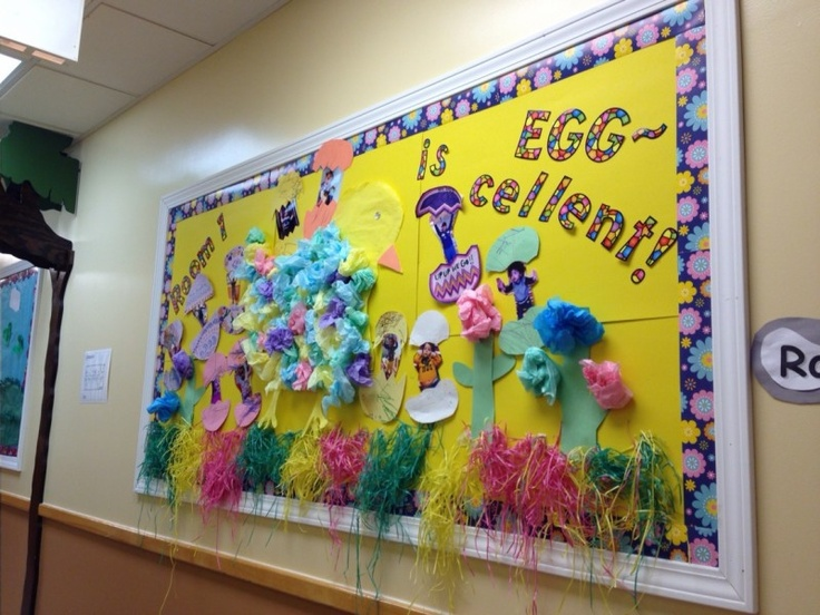 perfect easter bulletin board  take pictures of the kids