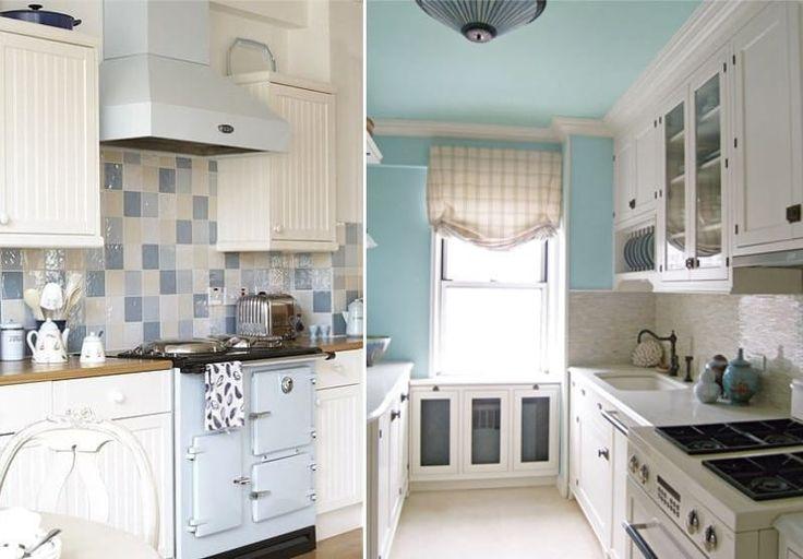Бело-голубая кухня в стиле прованс