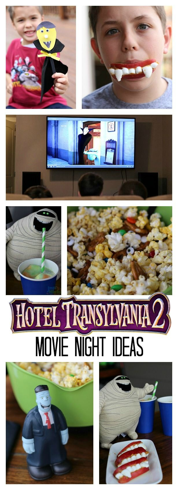 Bring Hotel Transylvania 2 home of Bu-ray and Digital and make it a fun family movie night with these easy ideas! #HotelT2 #ad