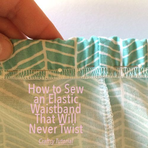 How to Sew an Elastic Waistband that Will Never Twist - City Stitching with Christine Haynes
