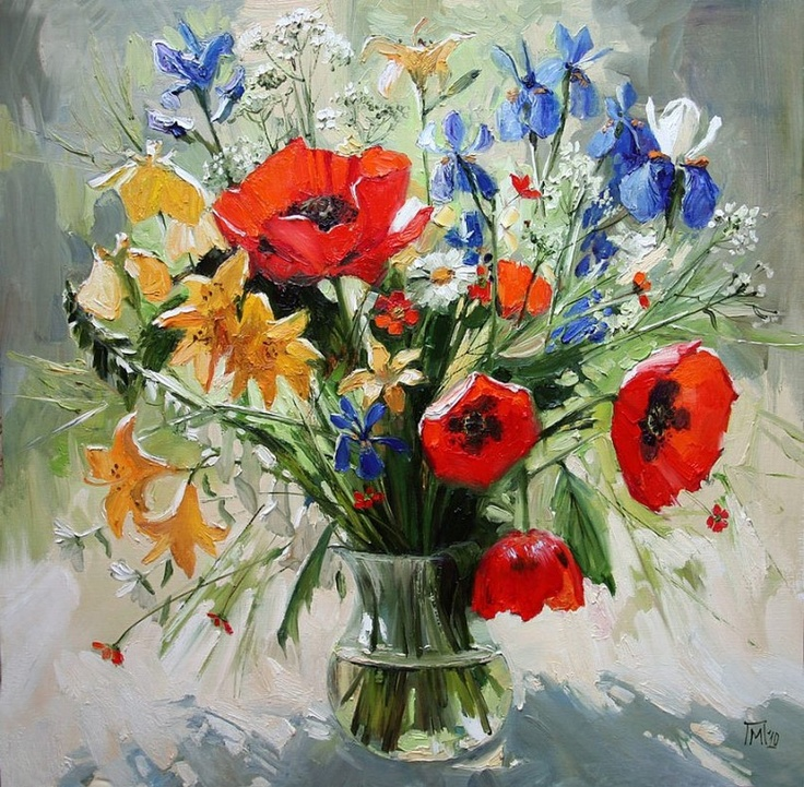 Maria Pavlova - Summer Bouquet,2010 (850x833)