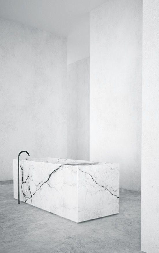Jon W Benedict | Marble tub minimal, interior, home decor, minimalist, minimalism