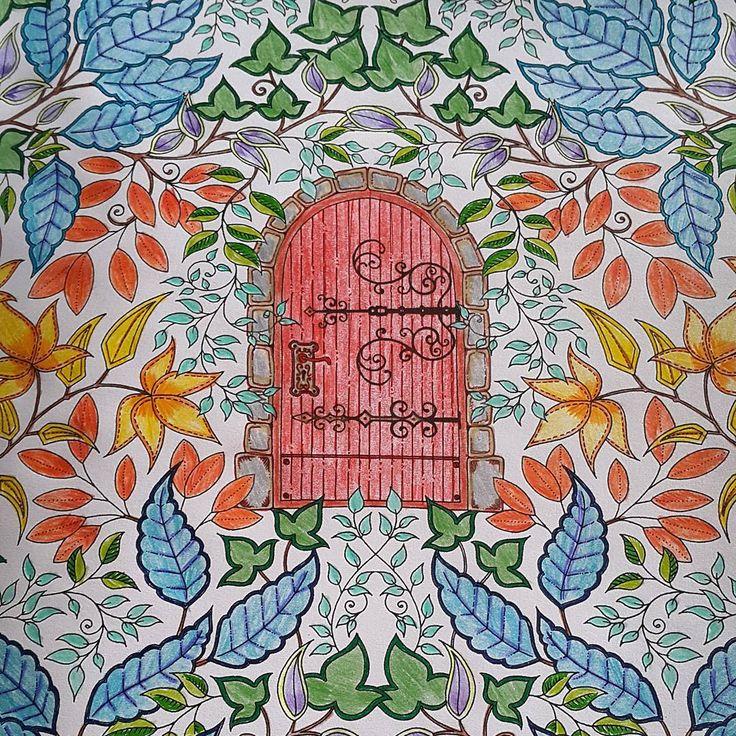 """Third.  #whengrownupscolor #adultcoloringbook #secretgarden #johannabasford"""