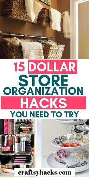 Sharing 15 dollar store organizing tips that will …