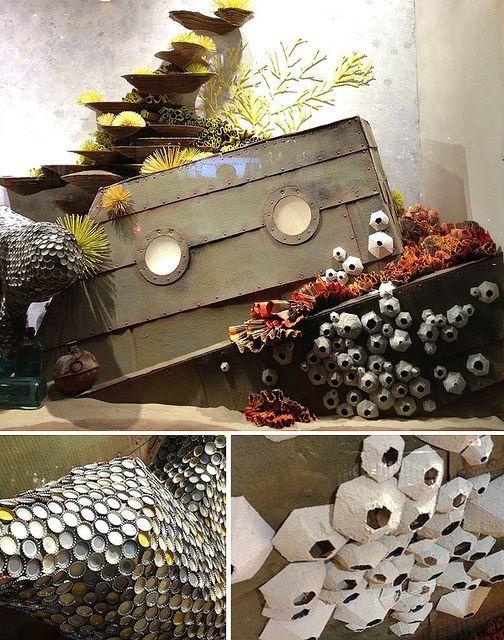 use egg carton pieces for barnacles