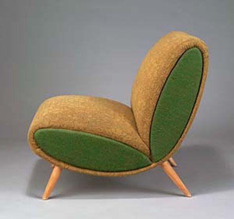 Norman Bel Geddes; Beech Frame Easy Chair, c1950.