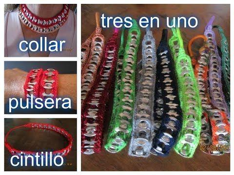 (2314) Cintillos, binchas o diademas en anillas de latas (taps) Luz Mireya Martinez - YouTube