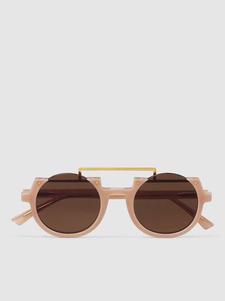 Apollo Round-Frame Sunglasses,