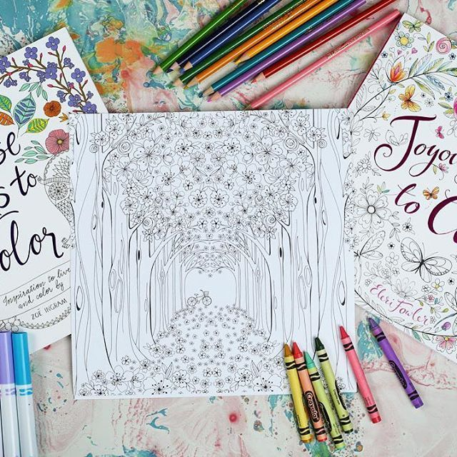 Pin On Joyous Blooms To Color