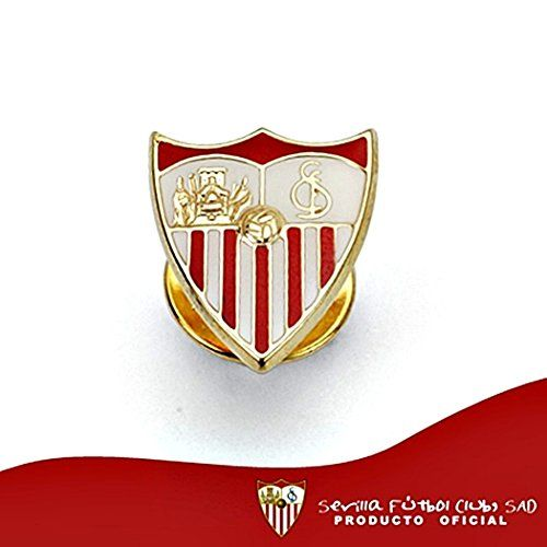 Pin Sevilla FC shield law 9k gold 16mm. enameled [8694] - Model: 0540-036