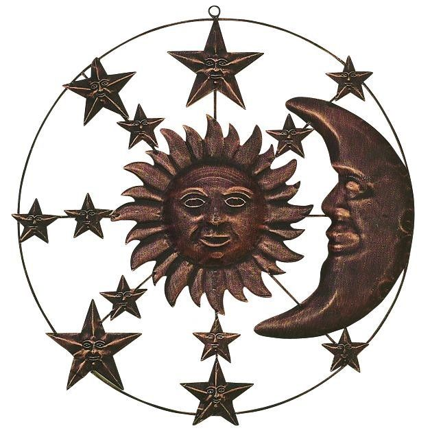 Sun and Moon Metal Wall Décor