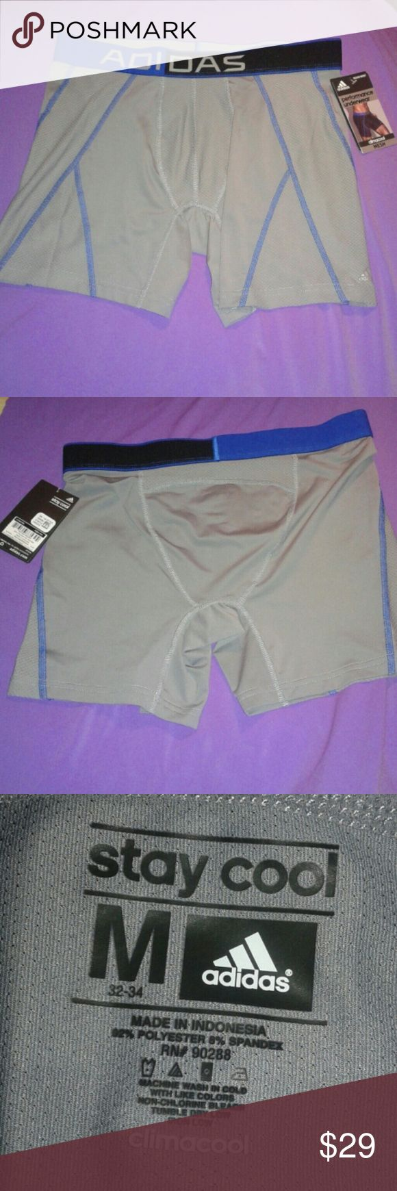 Adidas Boxer Brief Climacool Mesh Underwear Sz M New and never used boxer brief performance underwear climacool mesh. Size M for 32-34 waist. That what the tag says. 92% polyester and 8% spandex. Final price unless you bundle. Adidas Underwear & Socks Boxer Briefs