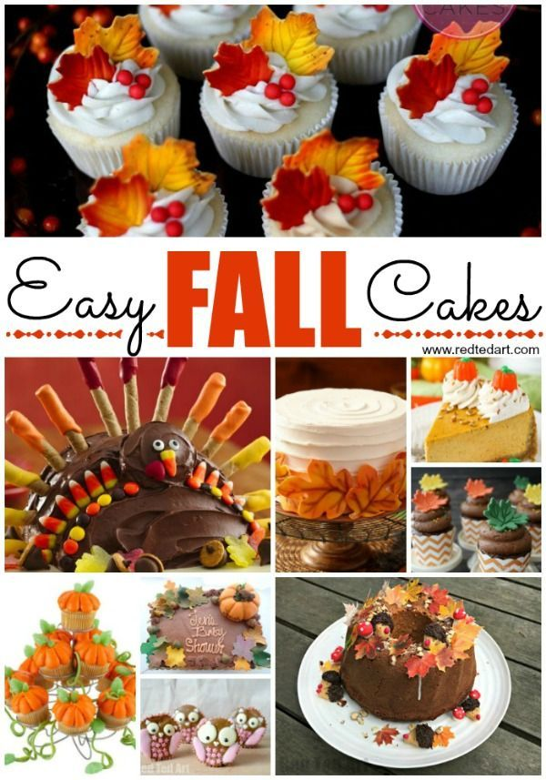 Easy Fall Cake Decorating Ideas Thanksgiving Cakes Fall Cakes